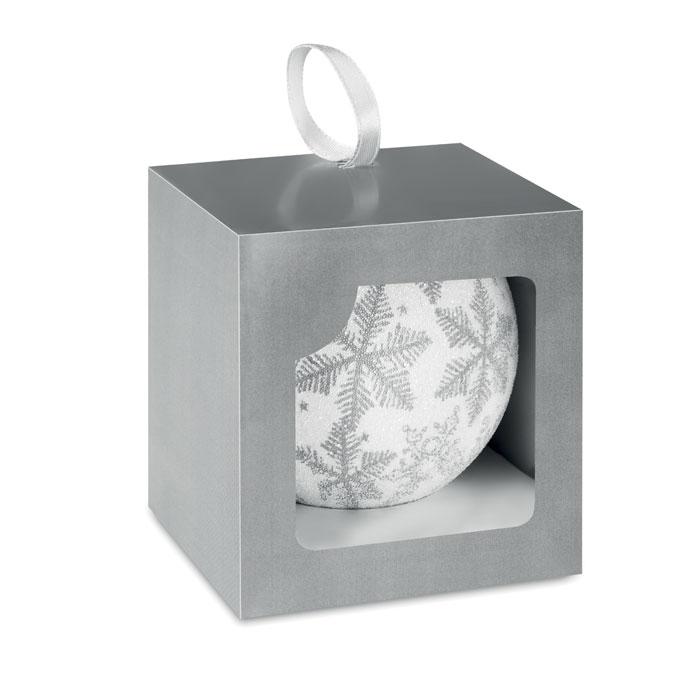 Новогодние шары, серебряный