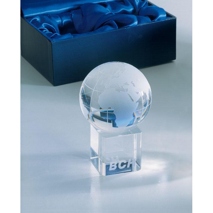 Глобус стеклянный, прозрачный