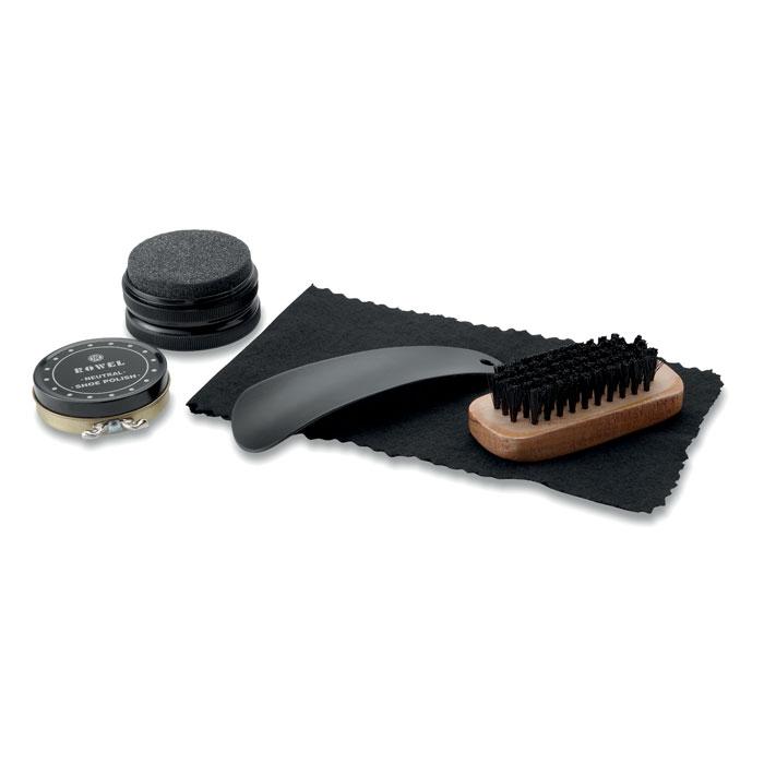 Набор для чистки обуви, коричневый