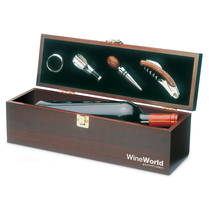 Набор винный, древесный