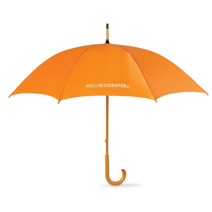 Зонт-трость, оранжевый