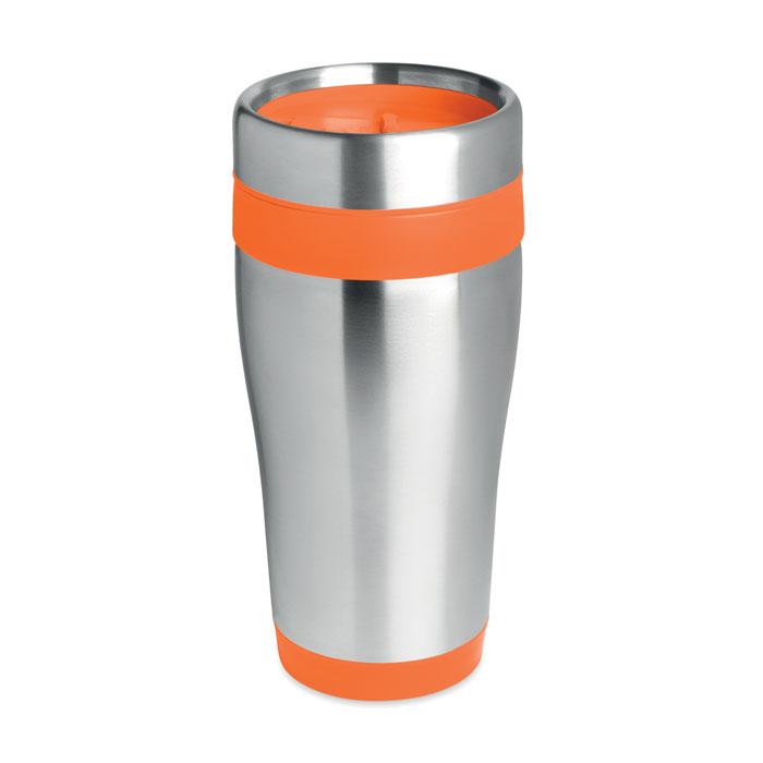 Термокружка нержавейка, оранжевый