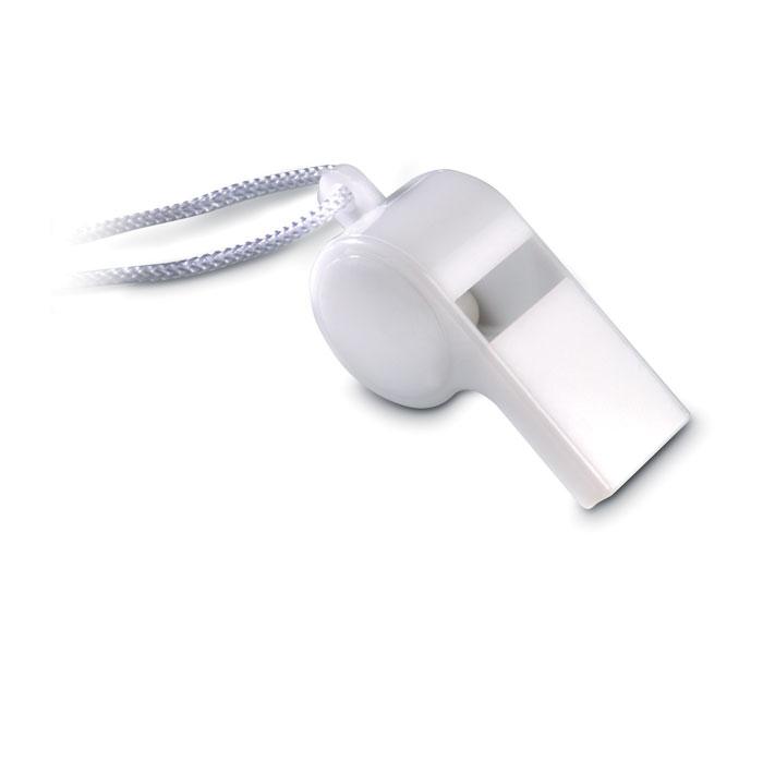 Свисток на шнурке, белый
