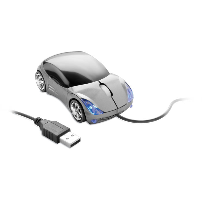 Мышь в форме авто, титановый