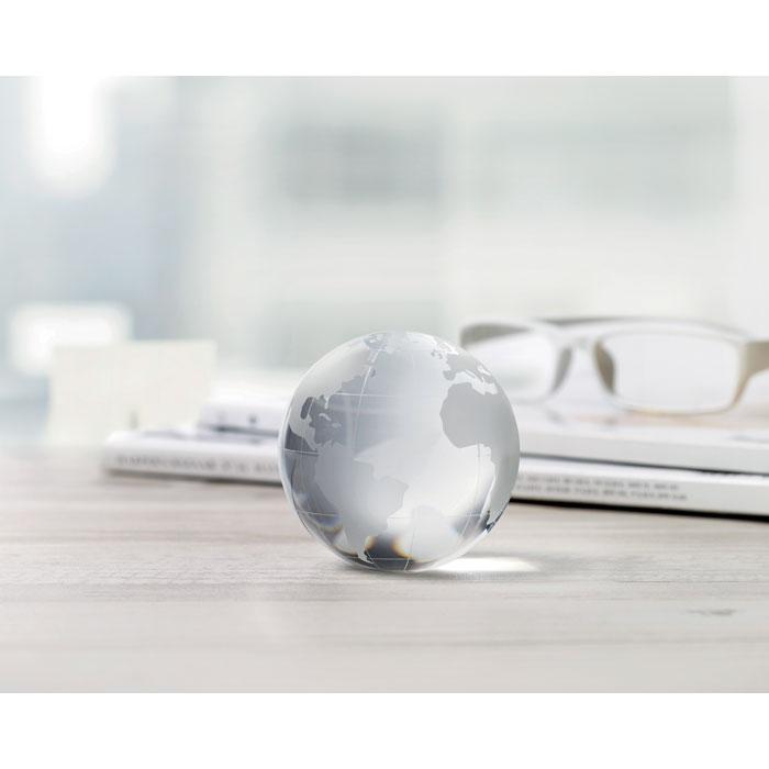 Глобус пресс-папье, прозрачный
