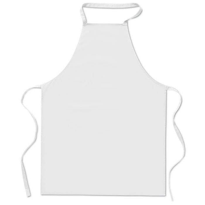 Кухонный фартук из хлопка, белый