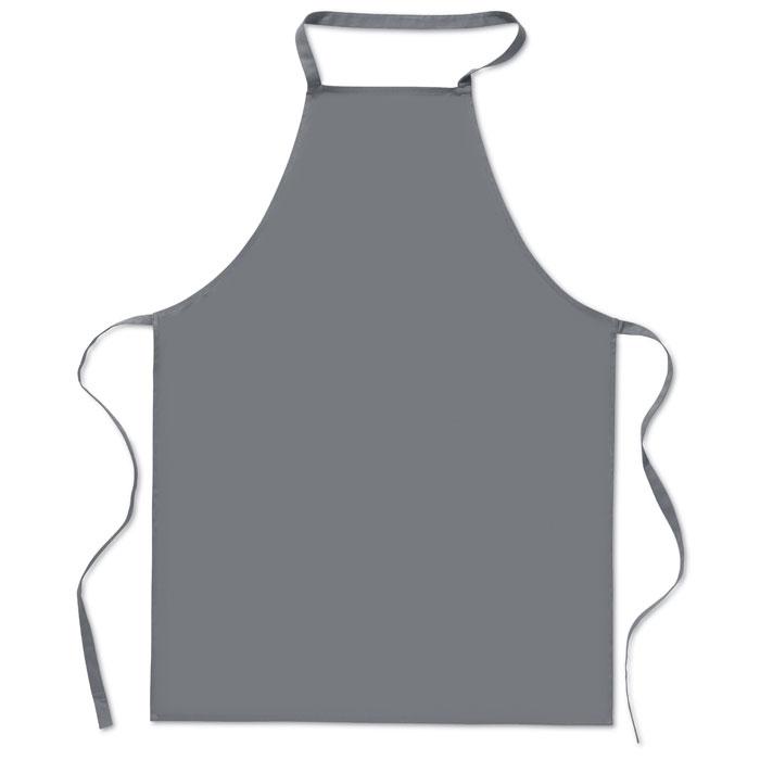 Кухонный фартук из хлопка, серый