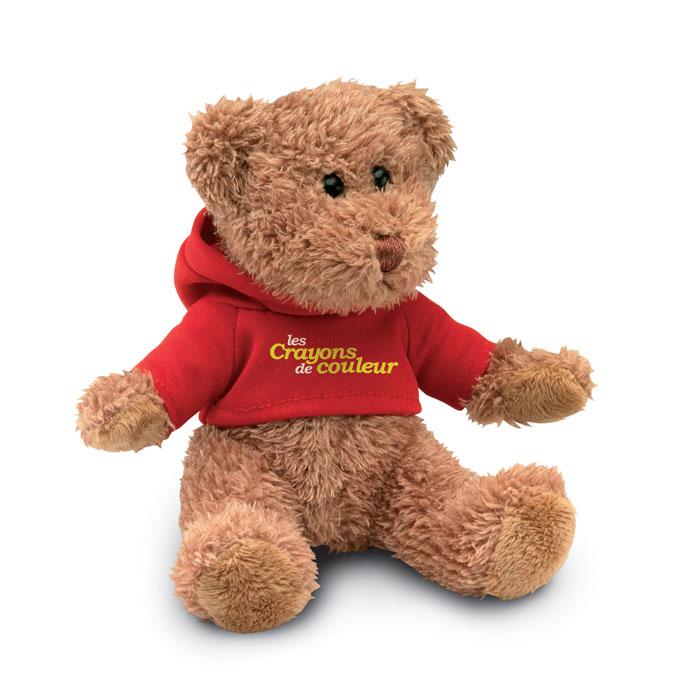 Медведь в футболке, красный