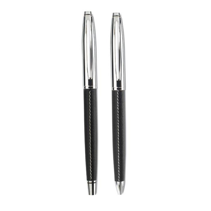 Набор: ручка роллер и шариковая, черный
