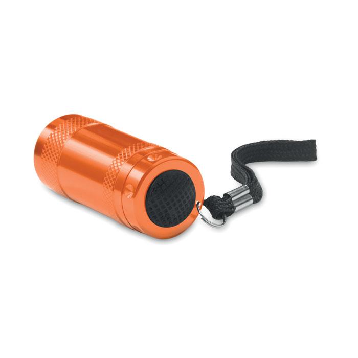 Фонарик алюминиевый с ланьярдом, оранжевый
