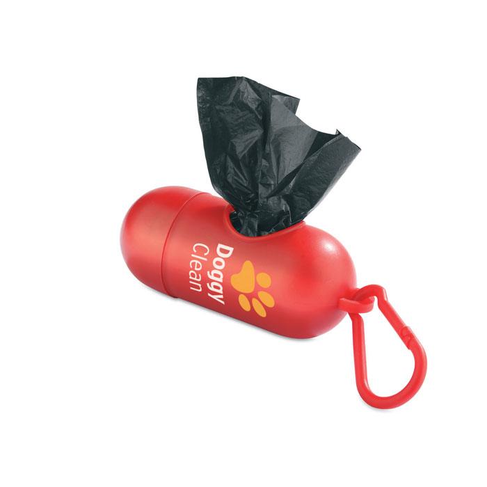 Контейнер с пакетами, красный