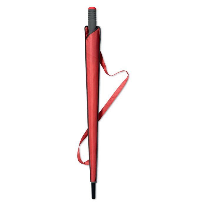 Зонт-трость, красный