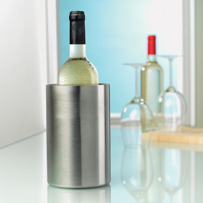 Кулер для вина, тускло-серебряный