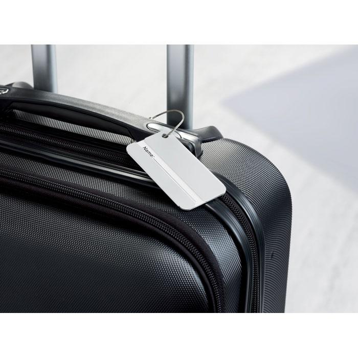 Бирка багажная, тускло-серебряный