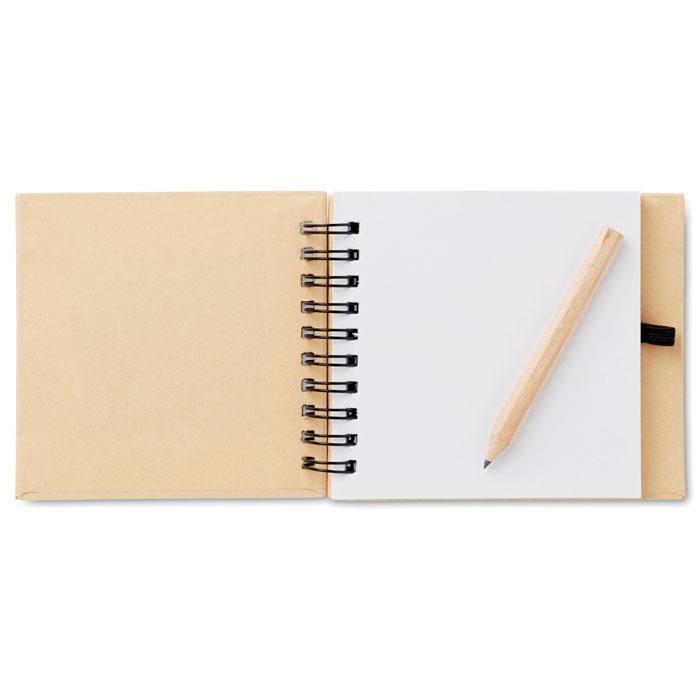 Блокнот с карандашом