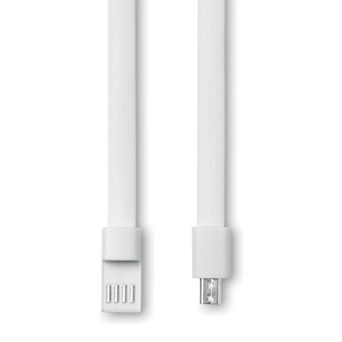USB браслет, белый