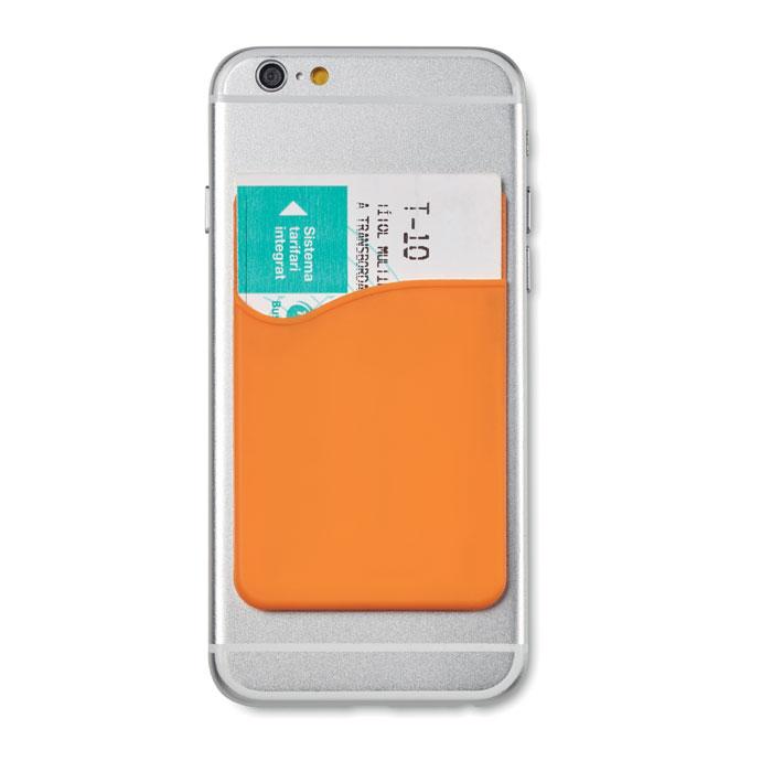 Чехол для пластиковых карт, оранжевый