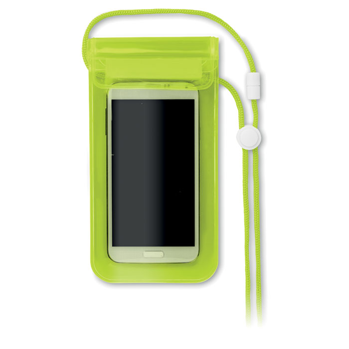 Чехол для смартфона, прозрачно-зеленый