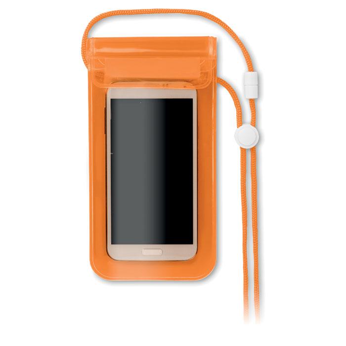 Чехол для смартфона, прозрачно-оранжевый