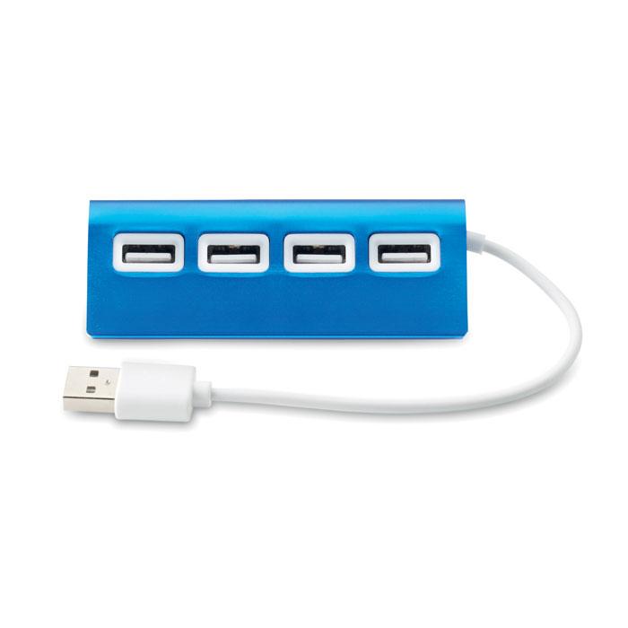 USB хаб на 4 порта, синий
