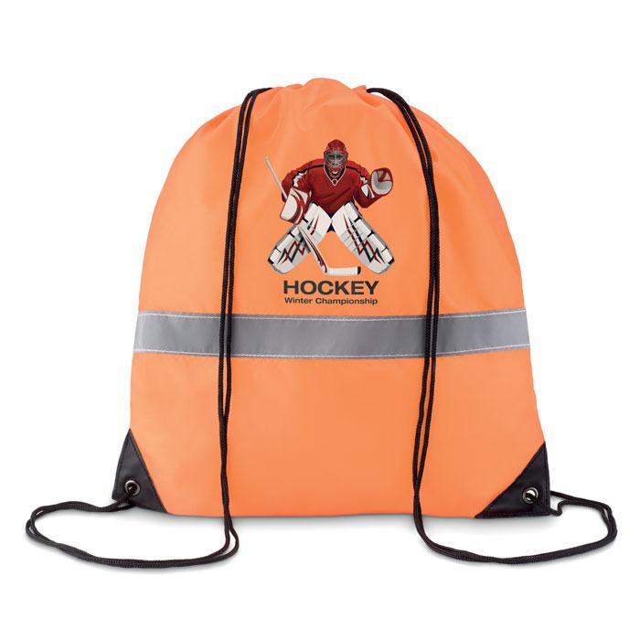 Рюкзак светоотражающий, неоновый оранжевый цвет