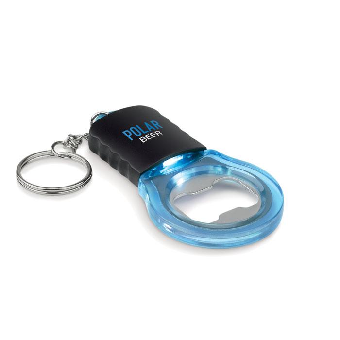 Брелок открывашка, прозрачно-голубой