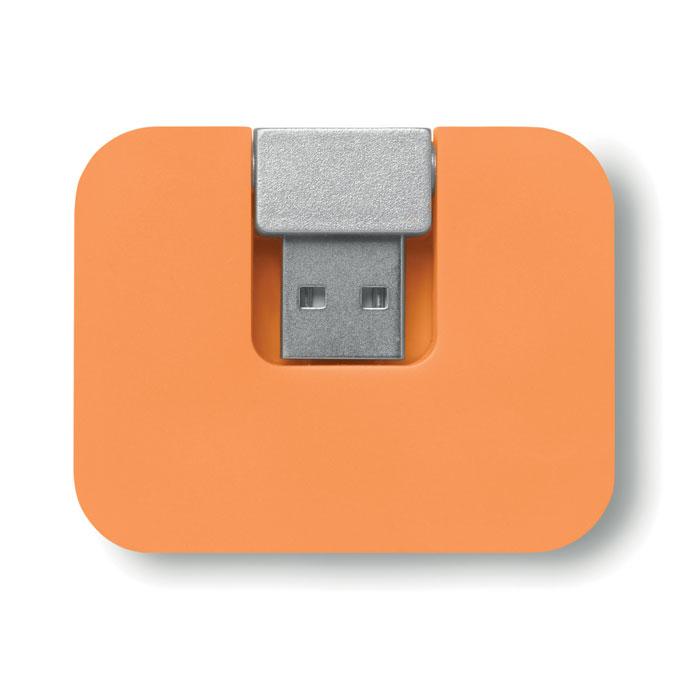 USB разветвитель, оранжевый