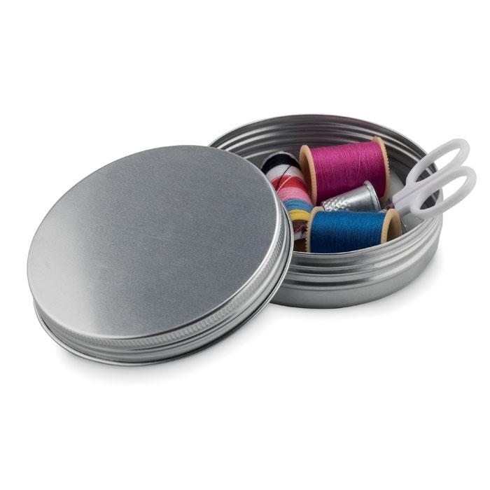 Набор швейный, тускло-серебряный