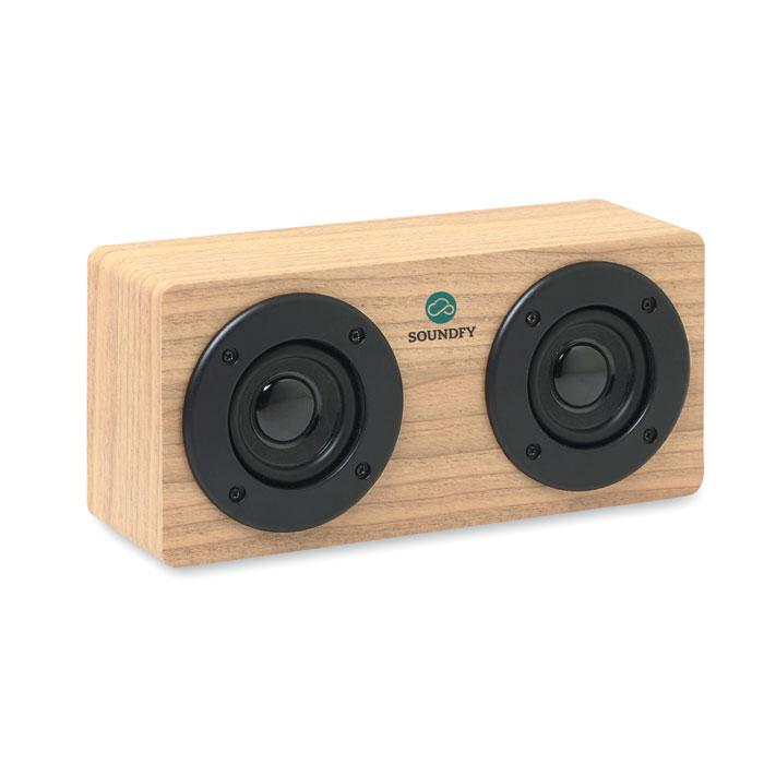 Bluetooth-динамик 2x3W 400 мАч, древесный