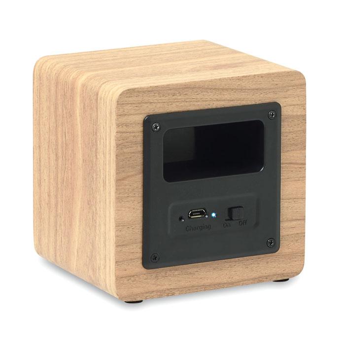 Bluetooth-динамик 3W 350 мАч, древесный