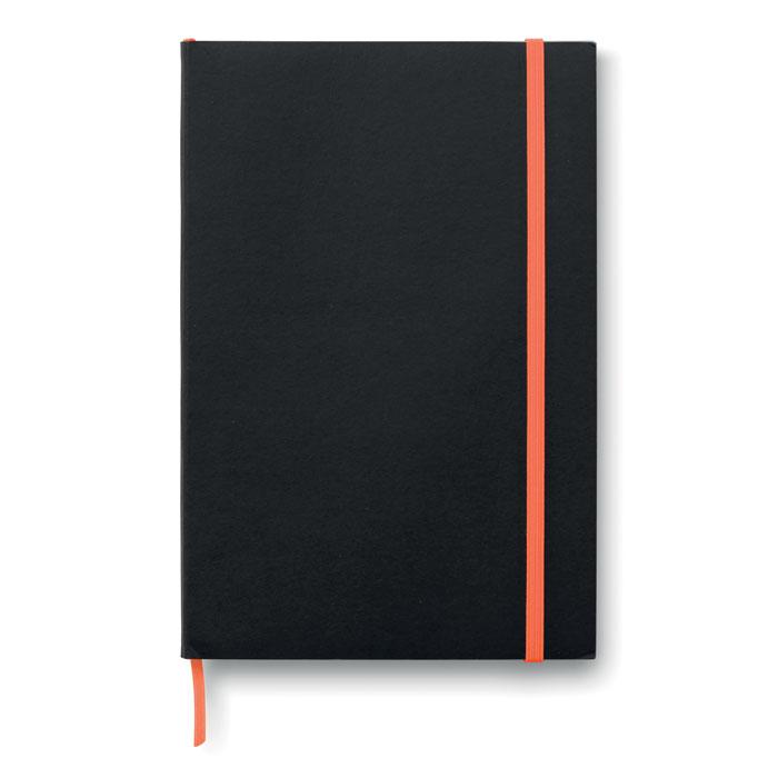Блокнот А5 линованный, оранжевый