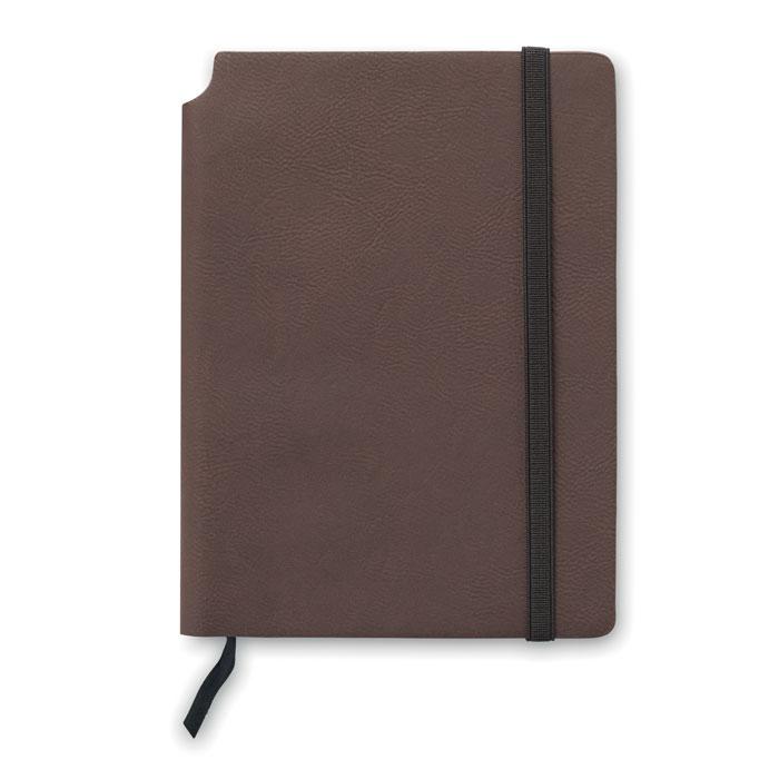 Блокнот линованный, коричневый