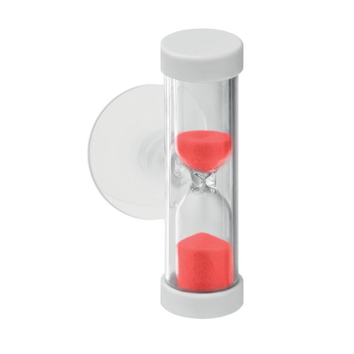 Часы песочные, красный