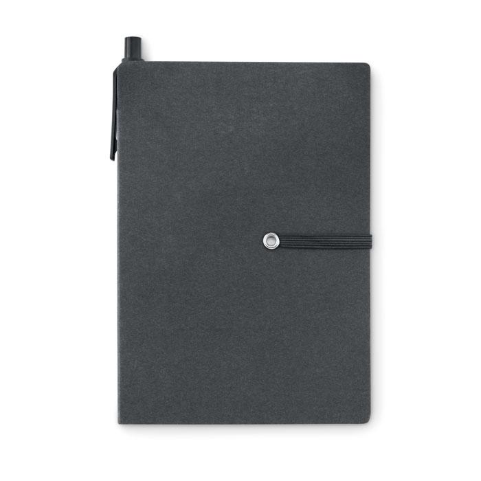Блокнот с ручкой, черный