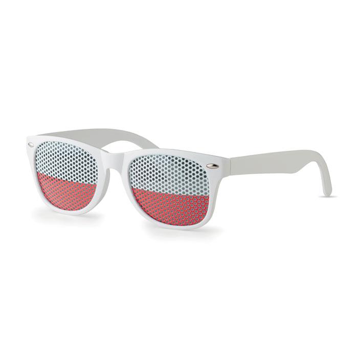 Очки солнцезащитные, белый
