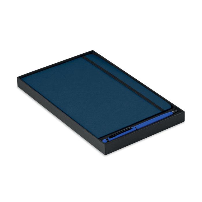 Блокнот с ручкой, синий