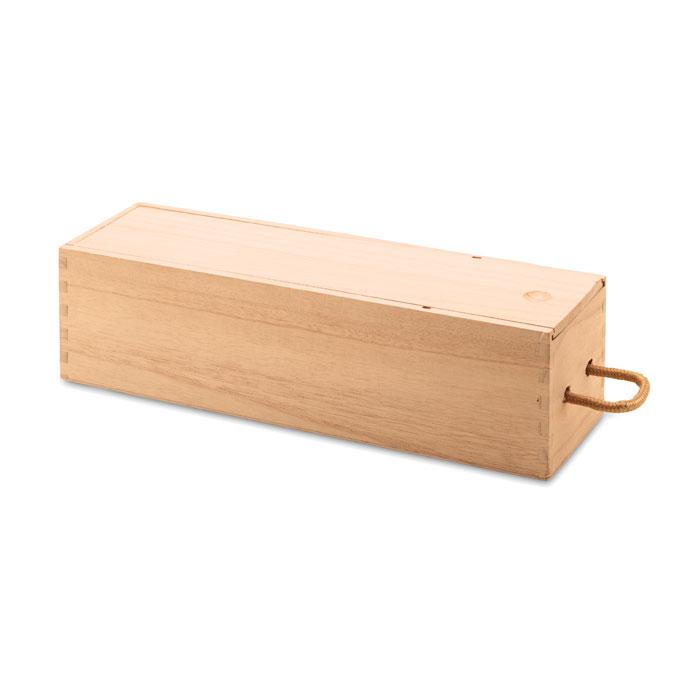 Деревянная винная коробка