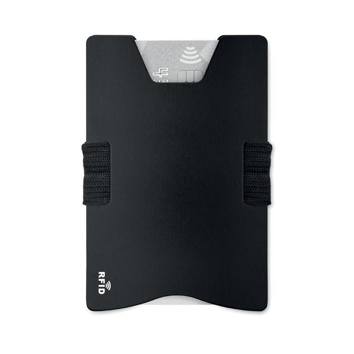 Алюминиевый кард холдер RFID, черный
