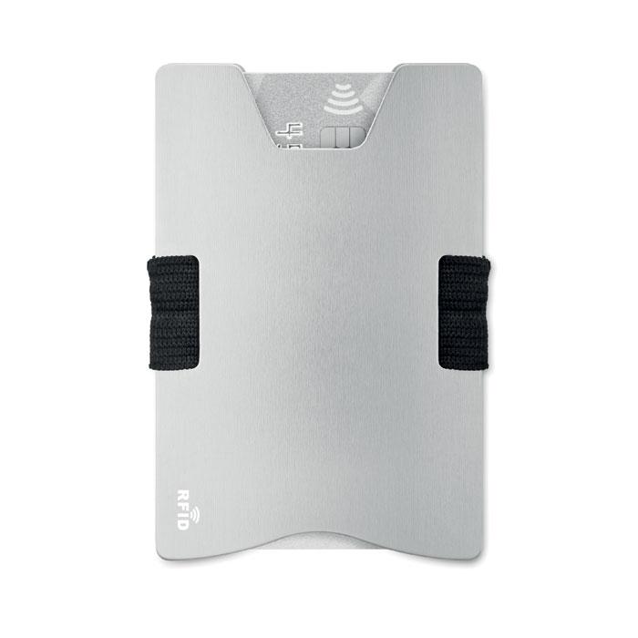 Алюминиевый кард холдер RFID, серебряный