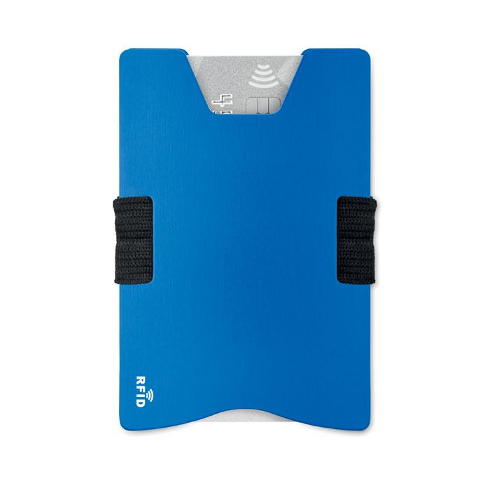 Алюминиевый кард холдер RFID, королевский синий