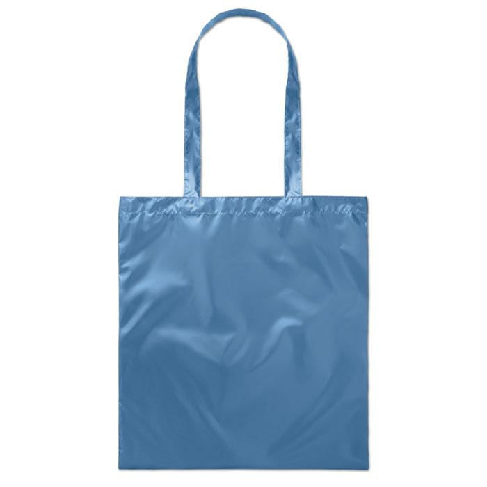 Сумка шоппер блестящая, синий