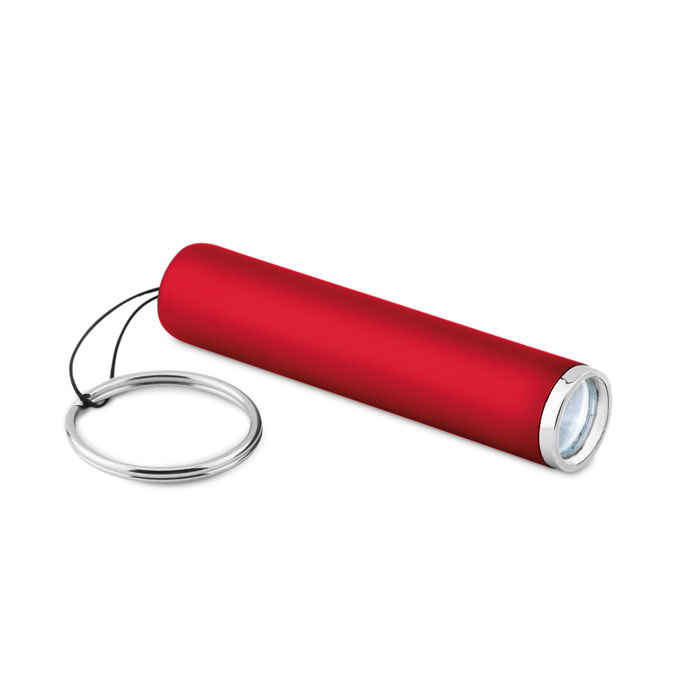 Фонарик пластиковый с подсветко, красный