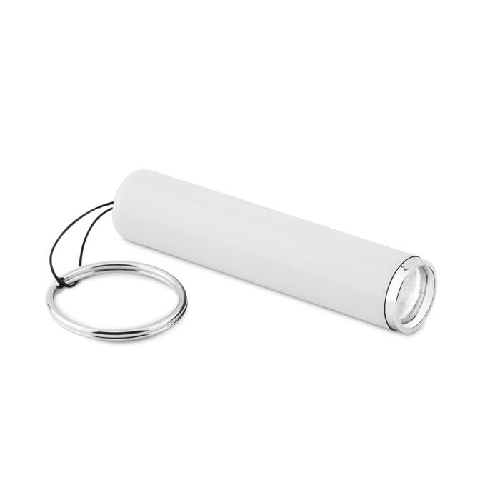 Фонарик пластиковый с подсветко, белый