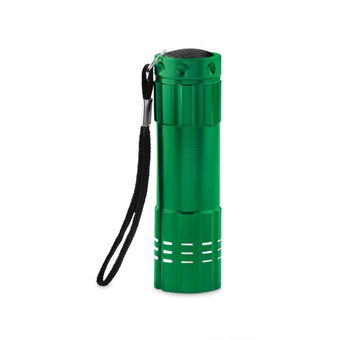 Фонарик алюминиевый диодный, зеленый-зеленый