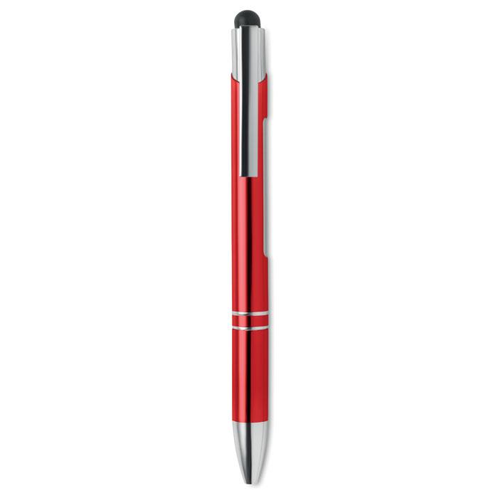Ручка стилус алюминиевая с подс, красный