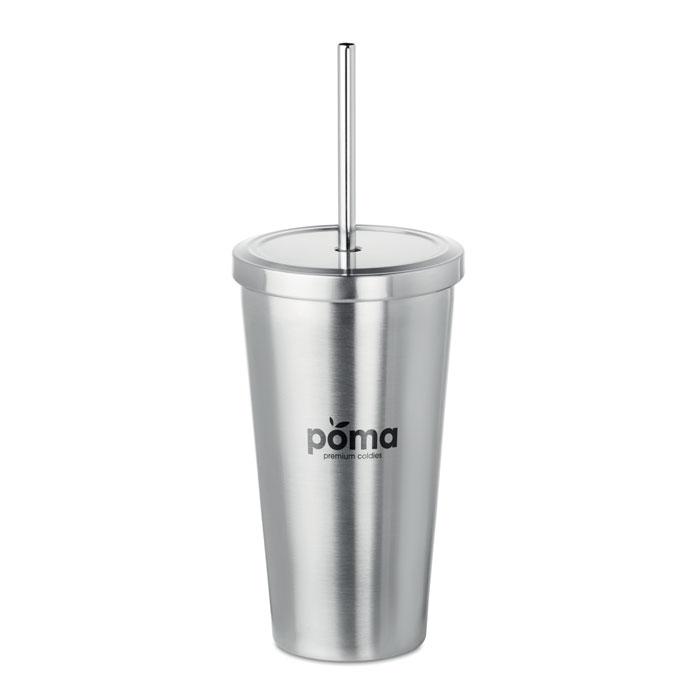 Вакуумная фляга для питья с сол, тускло-серебряный
