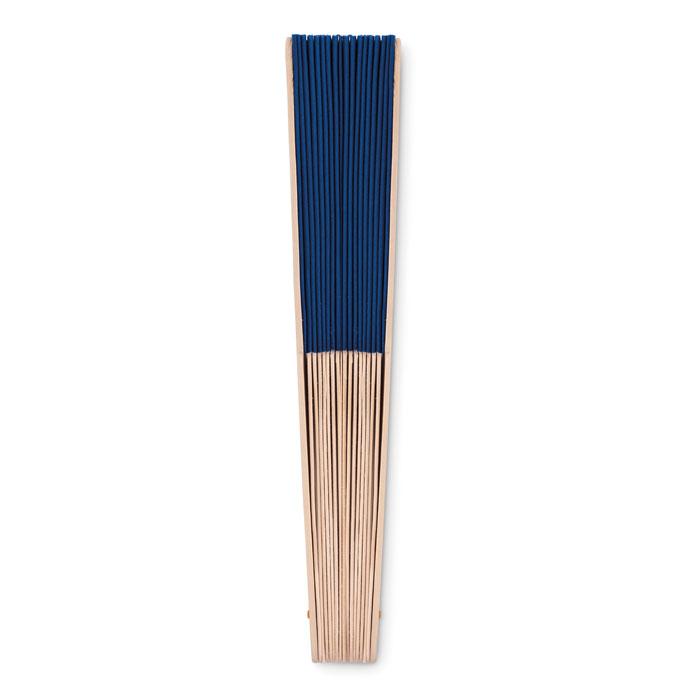 Веер деревянный, королевский синий