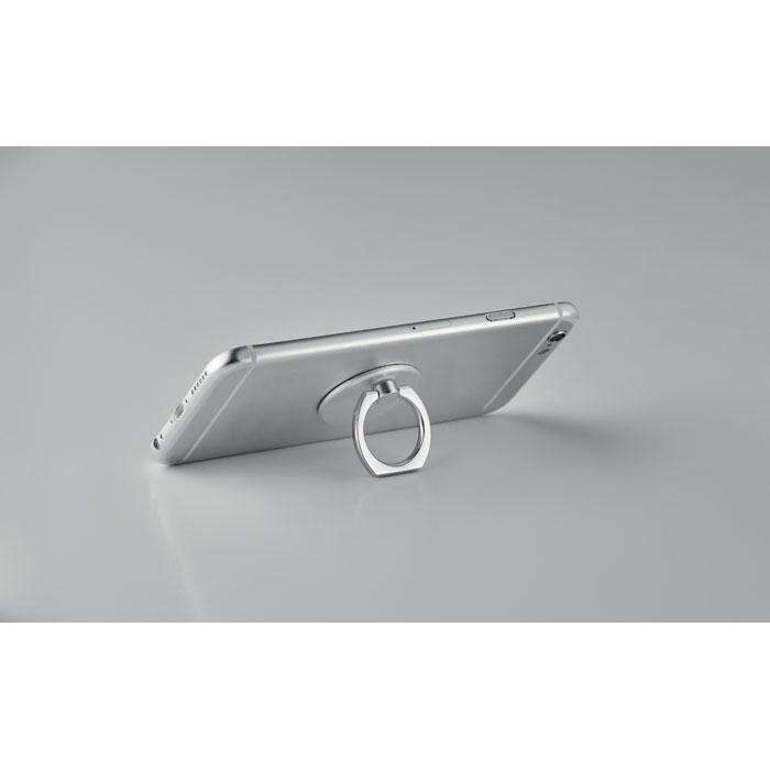 Кольцо холдер для телефона с по, серебряный