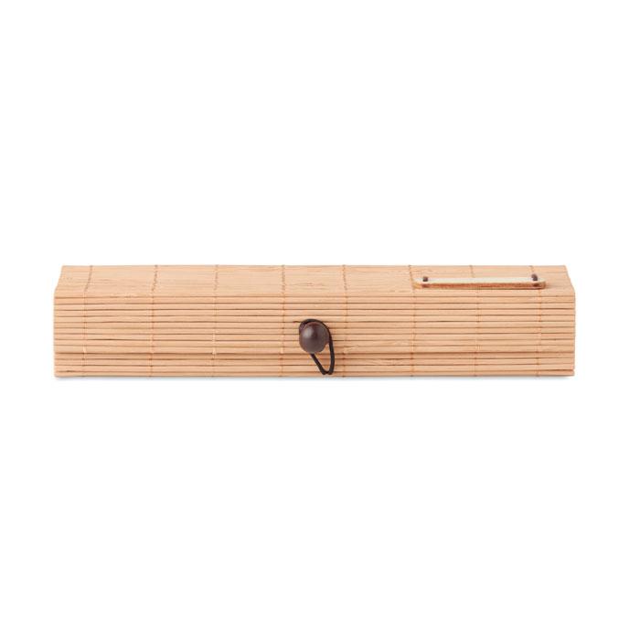 Канцелярский набор из бамбука, древесный