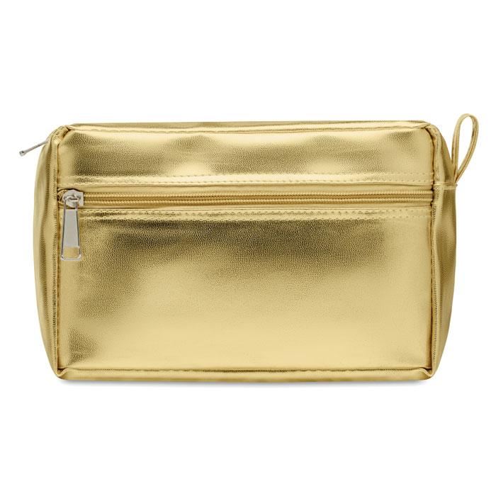 Косметичка из ПВХ блестящая, золотой